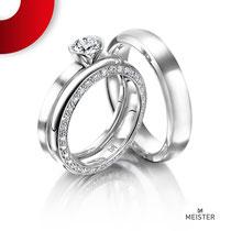 Trauringe by Trauringlounge I Gefertigt in Platin I Diamantenbesatz 0,58ct I Meister