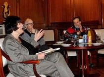 Gisela Erler, Hannes Wezel und Werner Hierse beim 10. Kamingespräch im Staatsministerium, Foto: Manuel Werner, alle Rechte vorbehalten!
