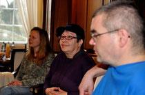 Sandra Johnston, Doris Walter und Holger Weiß von Trott-war beim 10. Kamingespräch im Staatsministerium, Foto: Manuel Werner, alle Rechte vorbehalten!