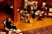 Monika Schmied, Gisela Erler, Hannes Wezel und Werner Hierse beim 10. Kamingespräch im Staatsministerium, Foto: Manuel Werner, alle Rechte vorbehalten!