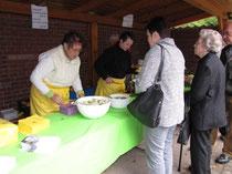 Kartoffel- und Kürbissuppe, Burgunderbraten im Buchweizenbrötchen