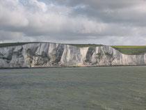 Abschied von England mit Blick auf die Klippen in Dover