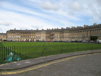 "Bath/ Royal Crescent, Reihenhäuser ""königlicher Halbmond"""