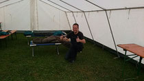 Sascha im großen Zelt