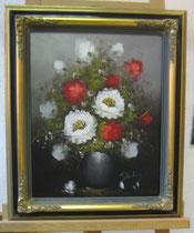 Blumenstrauß, Öl auf Leinwand