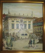 Alte Börse Leipzig,Wolfgang Kästner, Öl auf Leinwand, 60x70