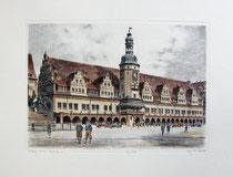 Radierung, Leipziger Rathaus