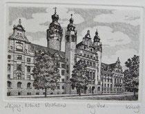Radierung, Leipzig