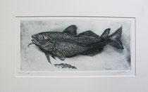 Radierung, Fisch