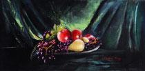 Nature morte aux raisins  (huile sur toile 72X35)