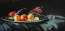 Légumes du jardin (huile sur toile 72X35)