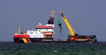 Tonnenleger und Küstenwache MS Arkona Foto:Preller