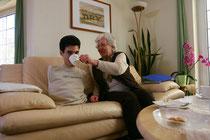 Christian Arndt mit Pflegemutti Foto:Preller