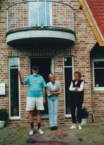6                   ...vor dem neuen Haus von Agnes in Lüdinghausen
