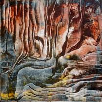 Flut in Stein | Acryl auf Leinwand | 30x30 | 160,-