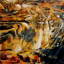 Zeit in Stein | Acryl auf Leinwand | 30x30 | 160,-