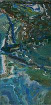 KERSTIN SOKOLL, Great Barrier Reef, 2017, E003, 30 x 60cm, SOLD