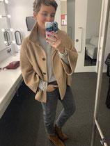 Camel cape, Grey jeans, Grey cashmere jumper - all Zara (old)
