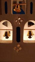 houten sfeerlicht Grieks kerkje met klokjes waxinelichtje uniek bijzonder_12