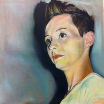 """""""Silvia"""" 2013, Öl auf Leinwand, 100x100"""