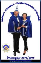 Andreas I. & Jasmin I. - Prinzenpaar 2014/ 2015
