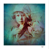 """""""Memory 5"""" Textured and painted vintage photograph, this work is part of a series called """"Memory"""""""