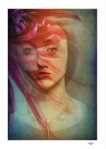 """Last century girl"" photograph, mixed media and digital painting, digital art, contemporary art"