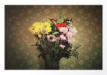 """""""Flowers for her"""". Flores para ella. Bouquet vintage color photograph. Fotografía color con estilo vintage de un ramo de flores."""