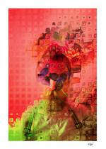 """Destructuring"" Digital Art. Digital Painted Photography. Mixed media. Contemporary Art. Abstract art. Portrait."