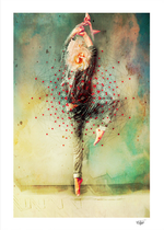 """""""The Dancer"""" Digital Art. Digital Painted Photography. Mixed media. Contemporary Art. Abstract art. Portrait. Digital Collage"""