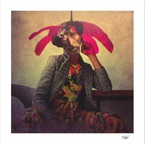 """Mister Mistery"" digital collage, photography, digital manipulation, digital art, soul art, contemporary art"