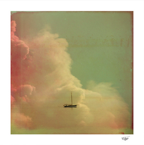 """""""Once Upon a Time a Little Boat"""" Double exposure and Hand painted photograph"""