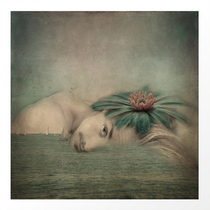 """""""A man, the sea and a dream"""" Mixed media, photography, collage, digital art, digital painting, contemporary art"""