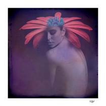 """Spring Portrait"" mixed media, photograph and digital painting, digital art, contemporary art"
