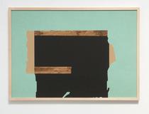 o. T., 2019 (Collage, Acryl auf Papier, 100 x 70cm)