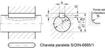 DIN 6885 chaveta y chavetero keyway
