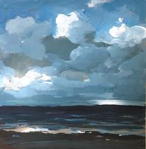 Wolken (Acryl auf Karton)
