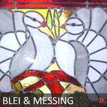 BLEI UND MESSING VERGLASUNG >