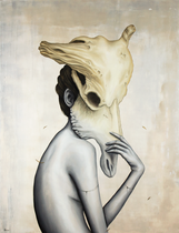 """Syndrome"" huile sur toile/oil on canvas 89x116cm 2015. Disponible chez Urbanity Gallery www.urbanitygallery.com (photo : Urbanity)"