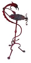 Pebetero metal dragón rojo