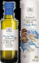 Omega Blue ist das passende Öl für alle, die immer einen klaren Kopf bewahren wollen. Die Ölmixtur aus Leinöl, mild geröstetem Walnussöl, Sonnenblumenöl, Weizenkeimöl und DHA trägt zur Erhaltung der normalen Gehirnfunktion und einer normalen Sehkraft bei.