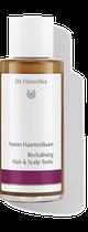 Bei zu hoher Fettproduktion hat das Neem Haarwasser normalisierende Wirkung auf die Talgproduktion, Schuppenbildung kann dadurch vorgebeugt  werden. Feinem Haar schenkt es mehr Fülle und Festigkeit.