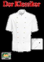 Kochjacke - 100% Baumwolle~220g/qm, mit Knöpfen, Kurzarm