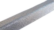 Schrägband Lurex 20mm Rückseite silber