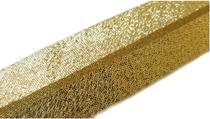 Schrägband Lurex 20mm Rückseite gold