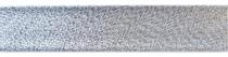 Schrägband Lurex 20mm Vorderseite silber