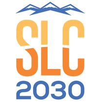 Salt Lake City (États-Unis, candidature d'abord envisagée pour 2030 ; puis soit pour 2026, soit pour 2030 ; premier logo)