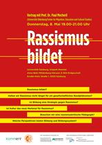 Plakat als Einladung für Uni-Vortrag in Salzburg. Auftraggeber: Interkulturelles Zentrum, Projekt Vielfalt glokal