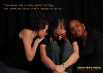 Werbekarte für Filmvorführung. Auftraggeber: Interkulturelles Zentrum, Projekt ARTiculating values