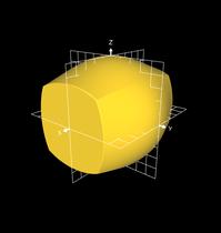 Projektion der Kugeloberfläche auf die Würfeloberfläche - 1